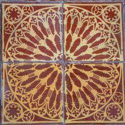 Floor tile from the Sanctuary, made in 1841