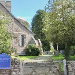 Front entrance to the Church and Churchyard